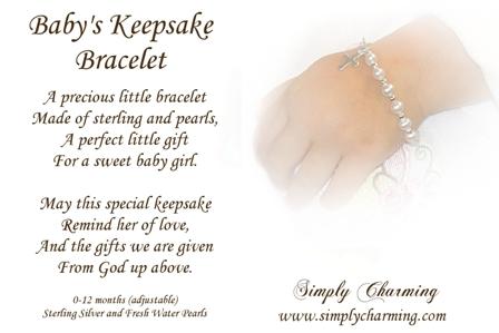 freshwarter pearl baby bracelet