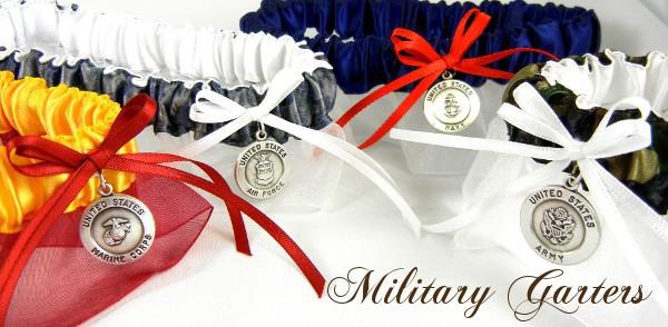 Military Bridal Garters